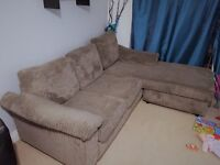 CHARCOAL JUMBO CORD CORNER SOFA (LEFT OR RIGHT) GREAT CONDITION