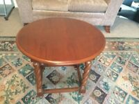 Oval Mahogany Occasional Table with Barley Twist Legs H22in/56cmW21.5in/55cmL24in/61cm