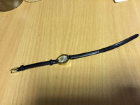 Ladies Black Leather Strap Sekonda Wrist Watch