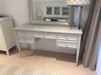 Beautiful Solid Wood Desk / Dressing Table - Painted Farrow and Ball (Originally from Harrods)