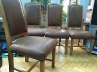 !NOW SOLD!4 dining table chairs solid wood notts ng3