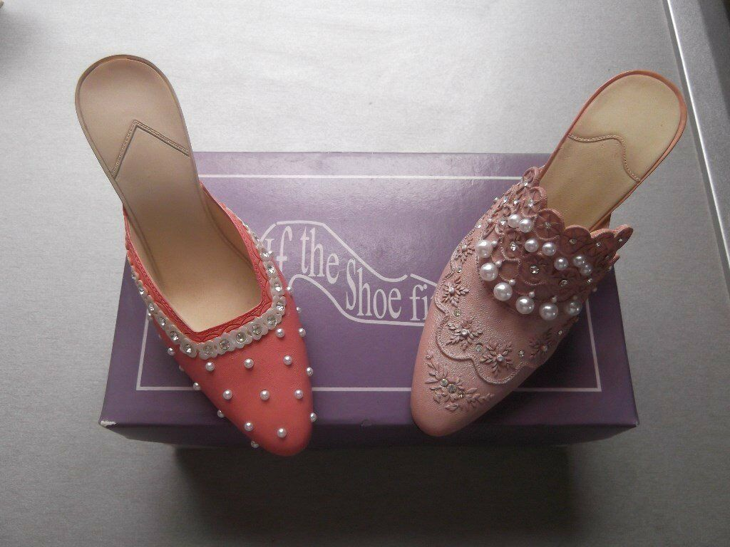9 collectable miniature shoes from the If The Shoe Fits Collection - As New condition