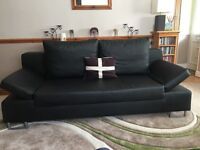Great condition used brown leather sofa bed