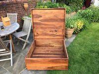 Hardwood ottoman/coffee table