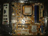M2n68-LA rev 1.01 Motherboard with back plate.