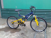"""BOYS 20"""" wheel MTB bicycle . . Cleaned, Serviced, Ready to go at £35 . PORTOBELLO"""