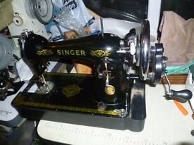 Singer semi-industrial sewing machine Model 15K Hand crank