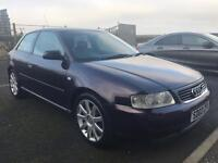 Audi A3 1.6 hatchback MOT Full year 19/01/2018 Mileage 77150 4 good condition TYRES and. WHEELS