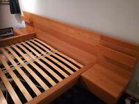 Ikea Malm Super King bed Oak