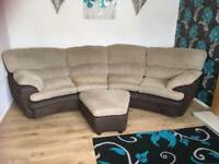 DFS 4 seater curved sofa