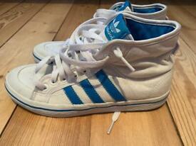 Adidas white mid tops