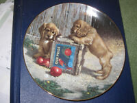 "Cocker Spaniel porcelain plate from ""Puppy Playtime"" collection 1987"