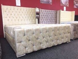 Ivory Chesterfield Bed Frame // Available In All Colours, Styles, Materials & Sizes