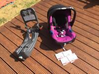 BABY-SAFE PLUS SHR II rear facing car seat (black/purple) and isofix base