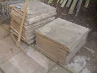 Paving slabs available free for collection in Newport Pembs.