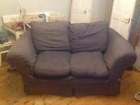 Blue sofa - 2 seater