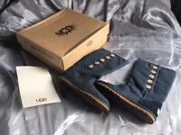 Blue denim lo pro button ugg boots size 5 / 4