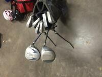Dunlop golf clubs and bag plus taylormade driver