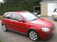 VAUXHALL CORSA 1-2 SXI PLUS 16v TWINPORT 3-DOOR 2006. BRIGHT RED 94,000 MILES 2 PREVIOUS LADY OWNERS