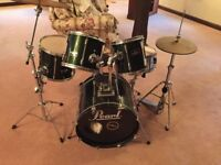 Pearl Drum Kit inc Cymbals and Stool