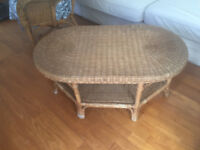 Coffee table - rattan