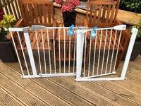 2 x Lindam Safety Gates With Extension