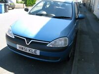 vauxhall corsa comfort 1199cc 2002 blue for sale with 100 035 miles in good condition.