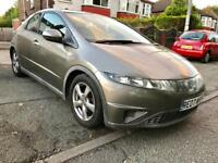 2007 HONDA CIVIC 1.8 EXECUTIVE,FULL LEATHER INTERIOR,HEATED LEATHER SEATS,MOT JULY.2018,ALLOYS