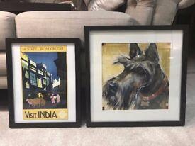 2 Black Framed Prints
