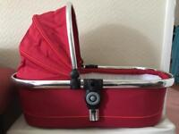 iCandy Peach Carrycot/Bassinet Red