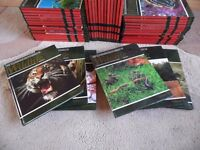 FULL PRISTINE COLLECTION OF THE ILLUSTRATION OF WILDLIFE 62 BOOKS