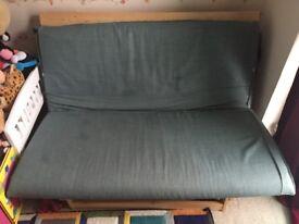 Double Futon for sale good condition colour green