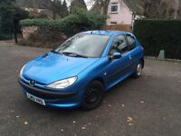 2001 Peugeot 206 1.2 manual full service history tax and MOT