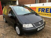 2006 VW SHARAN 1.9 TDI DIESEL AUTOMATIC 7 SEATER BLACK 2 OWNERS HPI CLEAR