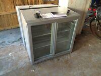 Husky Commercial Fridge, Double Back Bar Chiller, 210L Capacity, sliding doors