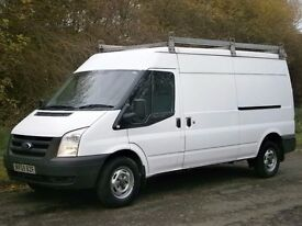 2009(59) FORD TRANSIT LWB SEMI HIGH 2.4 RWD 115bhp 6spd, ONE OWNER, READY FOR WORK, NO VAT!!