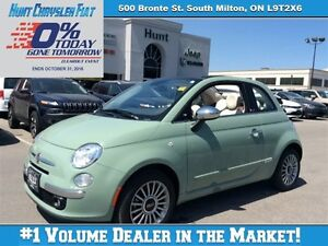 2015 Fiat 500C LOUNGE WITH LOWS KMS!!! BEATS AUDIO, A
