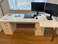 IKEA large L-shaped office desk