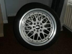 BBS LM styled alloys lenzo 17 inch 4x100/4x114.3 (Honda Toyota Nissan Vauxhall)