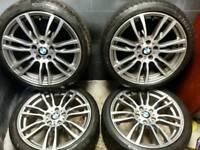 19 inch 5x120 genuine staggered BMW F30 Msport alloy wheels