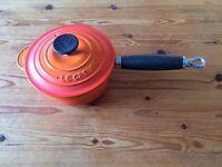 ***Le Creuset Cast Iron Saucepan 16 cm Volcanic Orange***