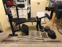 HOME GYM - adjustable bench 28 piece set