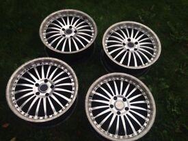 19 5x120 bmw alloy wheels rims bbs 1 3 5 7 series msport deepdish ssw