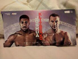 Anthony Joshua Vs. Wladimir Klitschko - 3 tickets - Block 119 lower tier