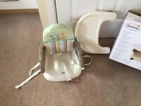 Summer comfort portable booster seat
