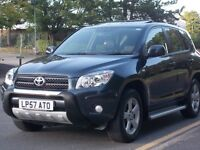 TOYOTA RAV4 2007 XT4 LOW MILEGE 48,000 ONLY! LONG M.O.T EXCELLENT CONDITION! FULL LEATHER INTERIOR.