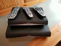 2X Sky HD Boxes