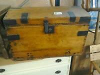 Wooden chest #28898 £89