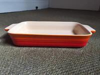 New Le Creuset Stoneware Shallow Rectangular Dish 26cm