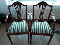 £20 BARGAIN!!!!!Lovely Looking Antique Style Carver Chairs (x2)